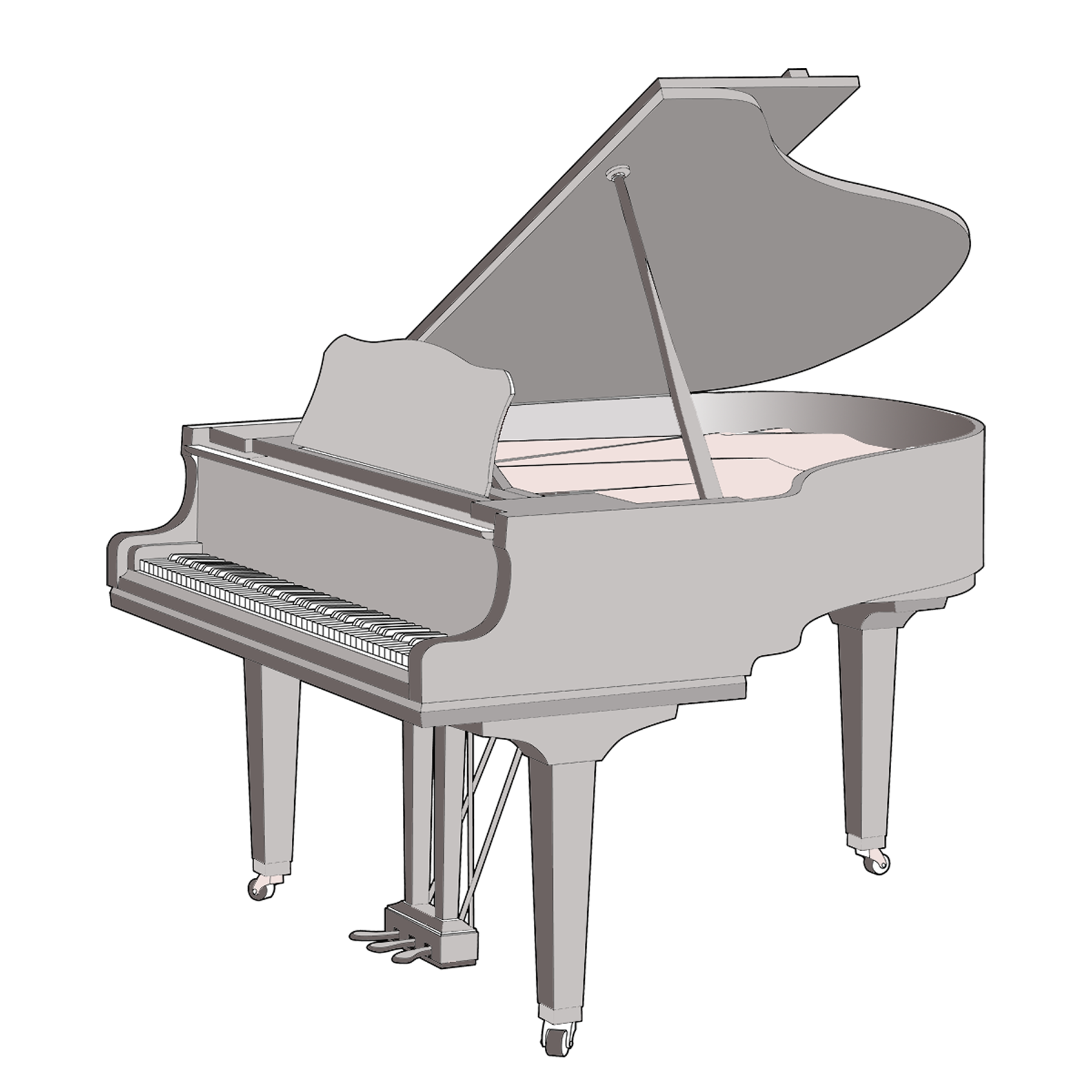 Grand piano sizes Size of baby grand piano