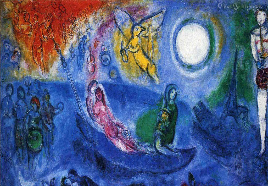 Marc Chagall painting - The concert