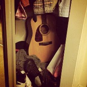 Guitar-in-closet
