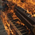 piano on fire